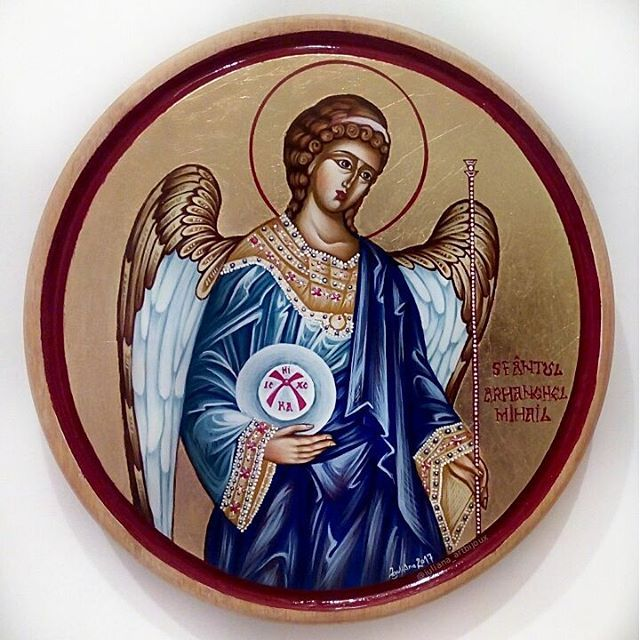 Saint Michael the Archangel, celebrated together with Saint Gabriel the Archangel and all the Bodiless Powers on the 8th of November.  Orthodox Iconography, painted in the traditional technique with natural pigments and egg yolk emulsion.  #saintmichael #stmichael #archangel #angel #icon #christian #orthodox #iconography #handpainted #art #orthodoxy #christianity #religious #painting #handmade #orthodoxicon #holy #saint #artistry #Byzantine #byzantineicon