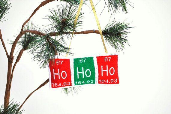 Periodic Table Ho Ho Ho Christmas Ornament by YellowBugBoutique, $12.50