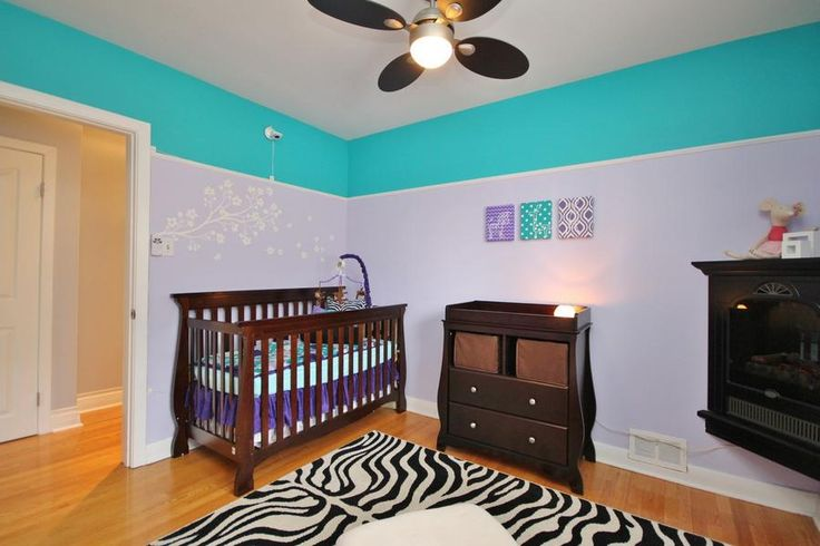 Turquoise and purple baby's room. #Ottawa #ottawarealestate