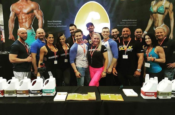 Come Stop by the Muscle Egg booth today at the L.A. Fit Expo! Try all our flavors and get some show only deals  @muscleegg  @thefitexpo  #muscleegg #lafitexpo #la #demo #fitness #bodybuilding #team