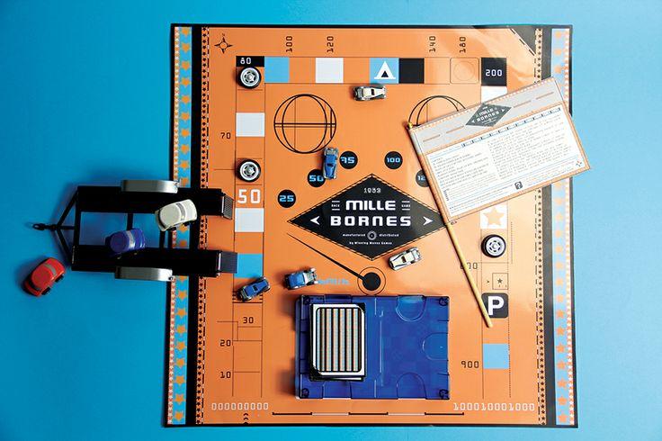 Game board packaging design.