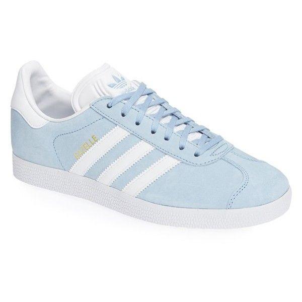 Men's Adidas 'Gazelle' Sneaker ($80) ❤ liked on Polyvore featuring men's fashion, men's shoes, men's sneakers, clear sky, adidas mens sneakers, adidas mens shoes, mens sneakers, mens shoes and mens suede shoes