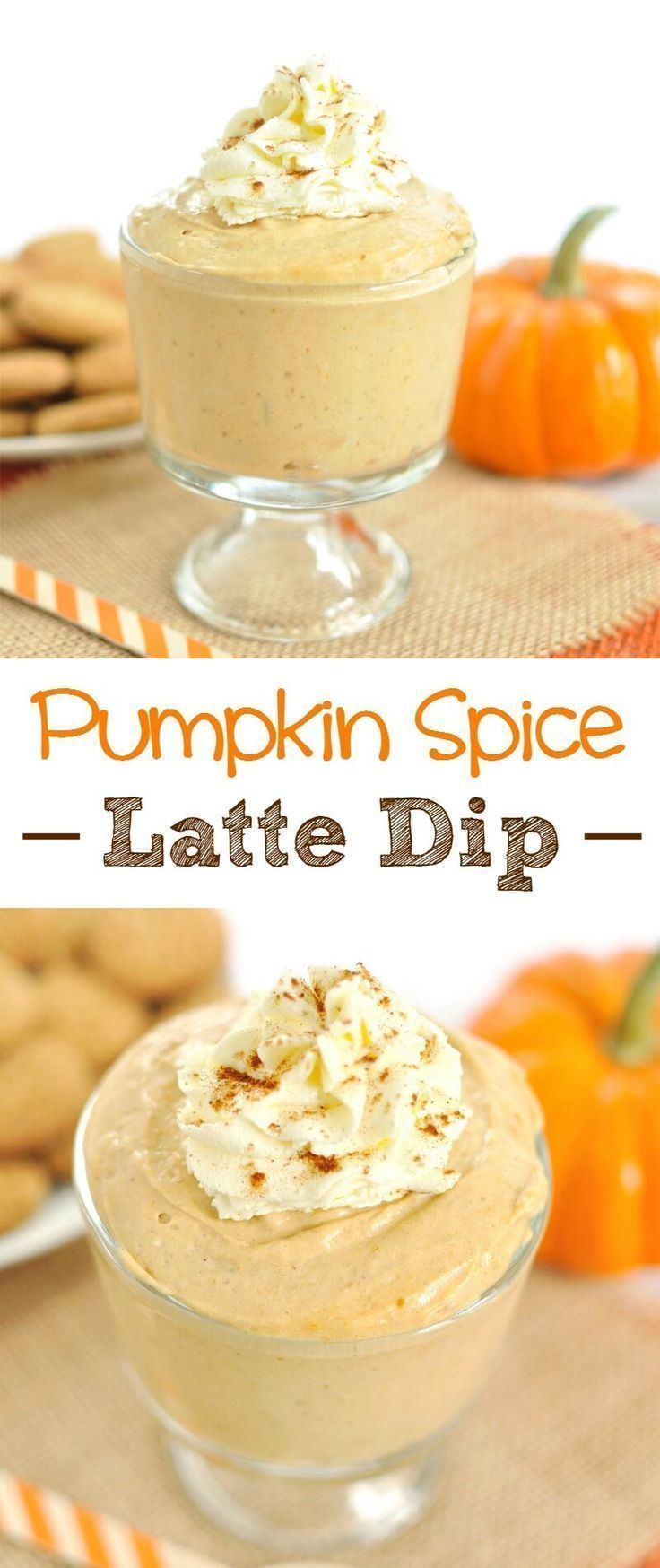 All the flavors of a pumpkin spice latte into a festive fall dessert. This Pumpkin Spice Latte Cream Cheese Dip will be a hit at your fall gathering or Halloween party. Serve with apples as a simple fruit dip for a fall appetizer or ginger snaps, graham crackers or wafers as an easy fall dessert recipe. This is a Starbucks PSL in a dip.