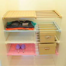 Vanzlife Envío del estiramiento armario compartimiento separado en capas estantes baño organizador estante de almacenamiento dormitorio(China (Mainland))