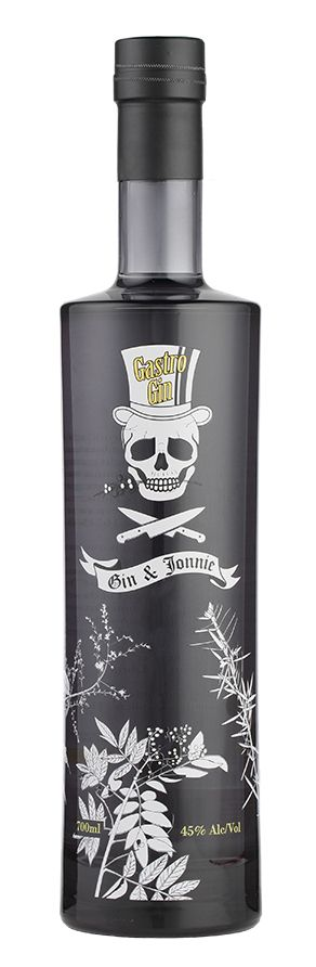 Gastrogin: best Gin ever...  +i like this design because it has a skull on it and it has my favroit shads on it.  -i would change the design on it so it looks cooler and i would add more skulls and maybe some roses.