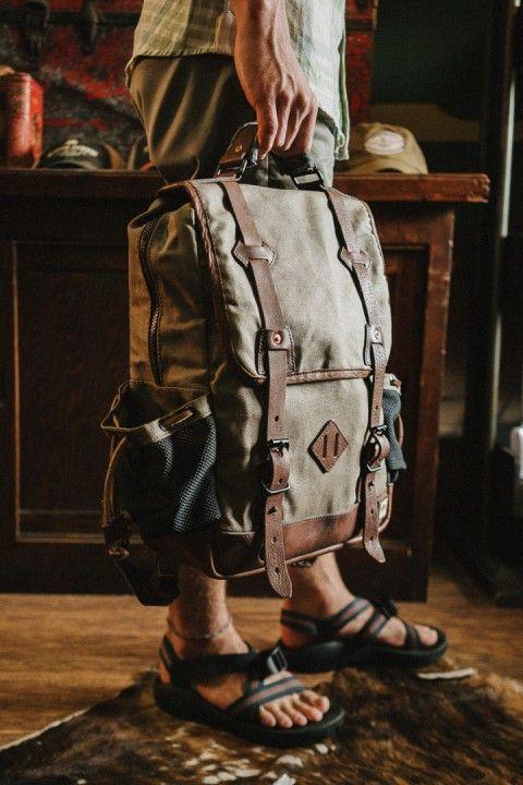 Dakota Vintage Commuter Backpack - Waxed Canvas & Leather - Field Tan