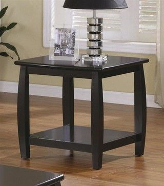 Marina End Table W Bottom Shelf - contemporary - Side Tables And Accent Tables - ivgStores