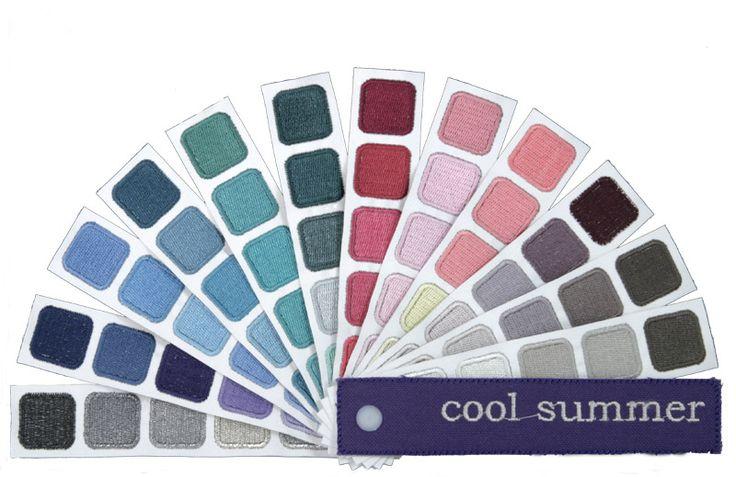 Indigo tones cool summer palette