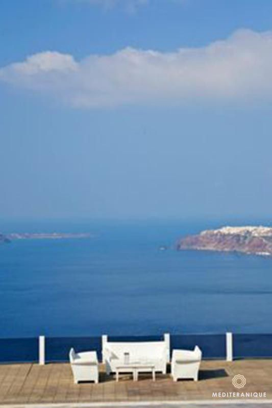 Caldera views from the Rocabella Santorini, Greece