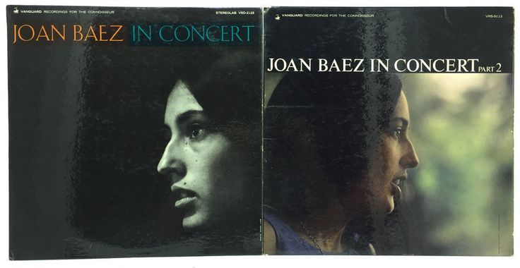 Joan Beaz Lot of 2 #Vinyl Record Albums In Concert Part 1 and 2 One Two