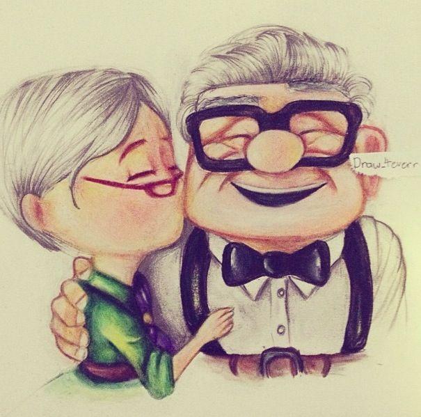 Up drawing, so cute!