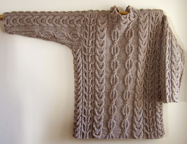 Ravelry: Geghard Cabled Sweater pattern by Irina Poludnenko