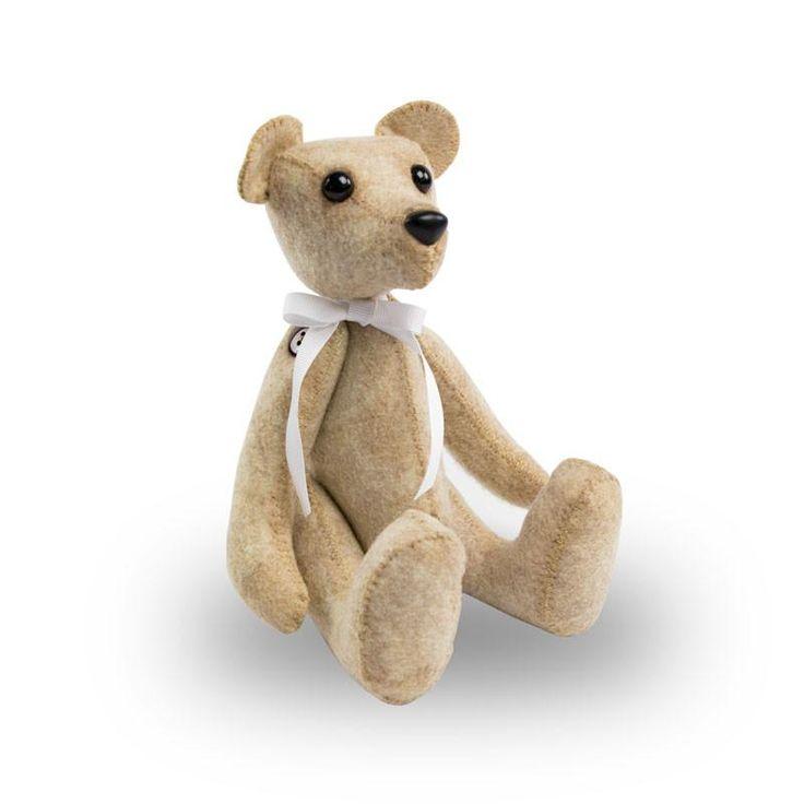 NEW! Plush Teddy Bear Cremation Keepsake with White Ribbon