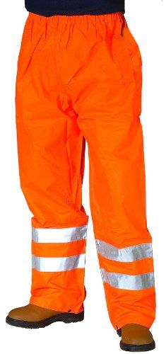 From 6.85 Hi Vis Viz Visibility Work Wear Safety Over Trousers Waterproof Pants