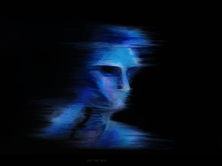 Kat von Rose / Feel Blue   #paintings #modernart #finearts #blue #artgallery #katvonrose