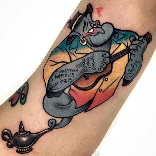 Genie tattoo by @varotattooer!