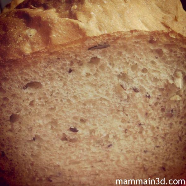 Pane base fatto in casa con la macchina del pane