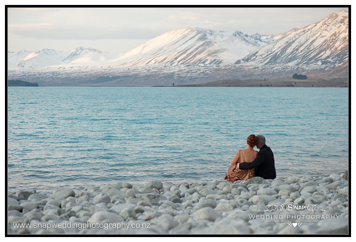 Lake Tekapo, New Zealand. Of all the times I've visited this place it is as quite as this. In fact this couple make the place a little crowded for NZ.
