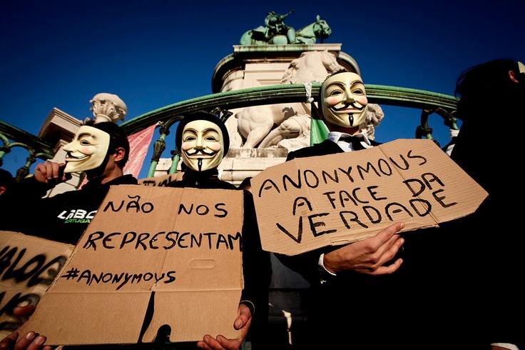 Anonymous na manifestação organizado pela CGTP contra as medidas de austeridade do Governo NUNO FERREIRA SANTOS