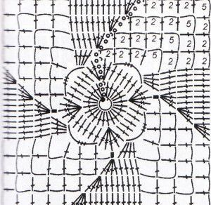 crochet lace square motif