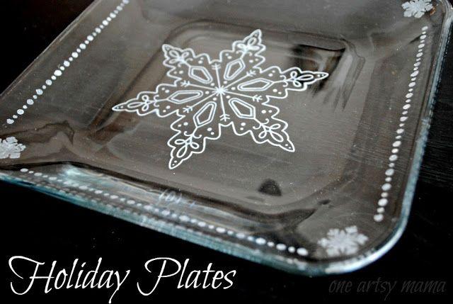 Handmade Holidays: DIY Tableware - A glass etching idea...