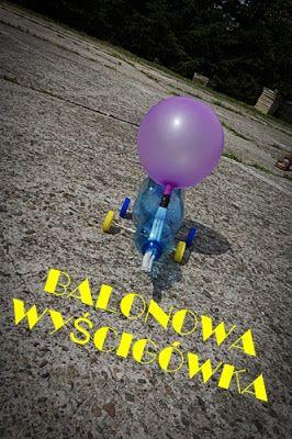 Balonowa wyścigówka | Kreatywnie w domu