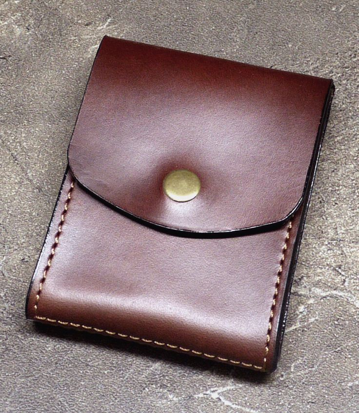 Horween Horse Hide Leather Cabrio Leather Money Clip Wallet - Featured at Parsons School of Design 2015 Alumni Exhibition by NormCahnLeatherworks on Etsy https://www.etsy.com/listing/248953593/horween-horse-hide-leather-cabrio