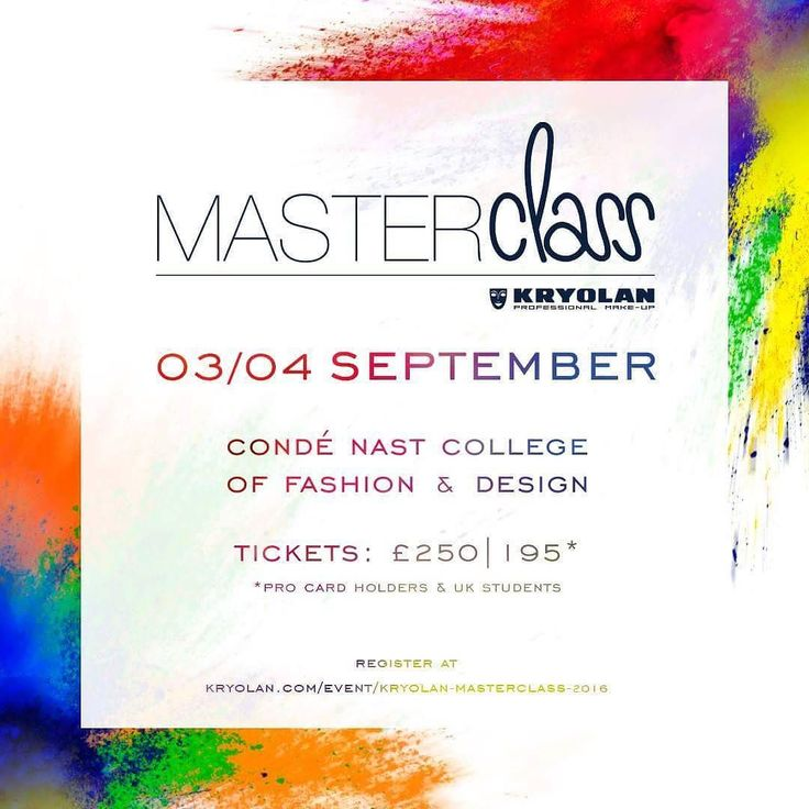 ATTN UK fans! Heres your opportunity to learn from myself and many other industry leading professionals! See @kryolanofficial for details   #masterclassuk #kryolan #kryolanofficial #masterclass #makeupart #london