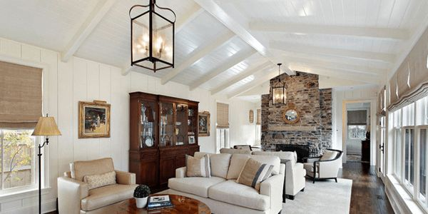 Decorate large wall vaulted ceiling