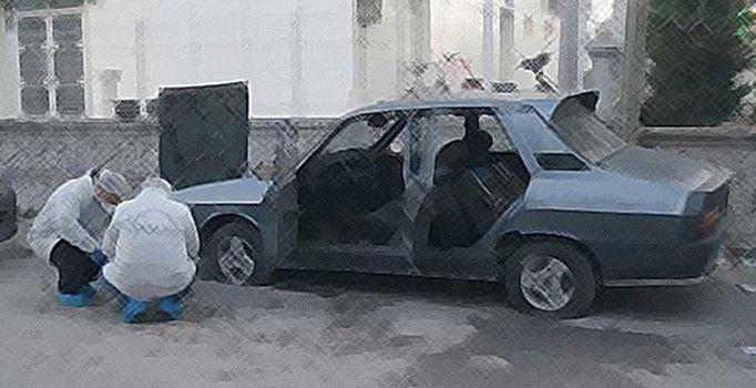 Van'ın Erciş ilçesinde terk edilmiş halde bulunan araçtan cephanelik çıktı