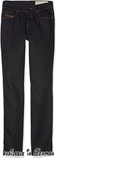 DIESEL Damen Hosen Sandy Blau (1), 25. Modell: Sandy 0665W. regular Slim-Straight. verdeckter Reißverschluss. 5-Pocket Style. Logo-Patch am Coin Pocket #Apparel #PANTS