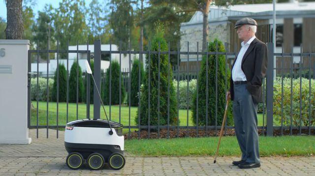 Une start-up lance son service de livraison par robots téléguidés