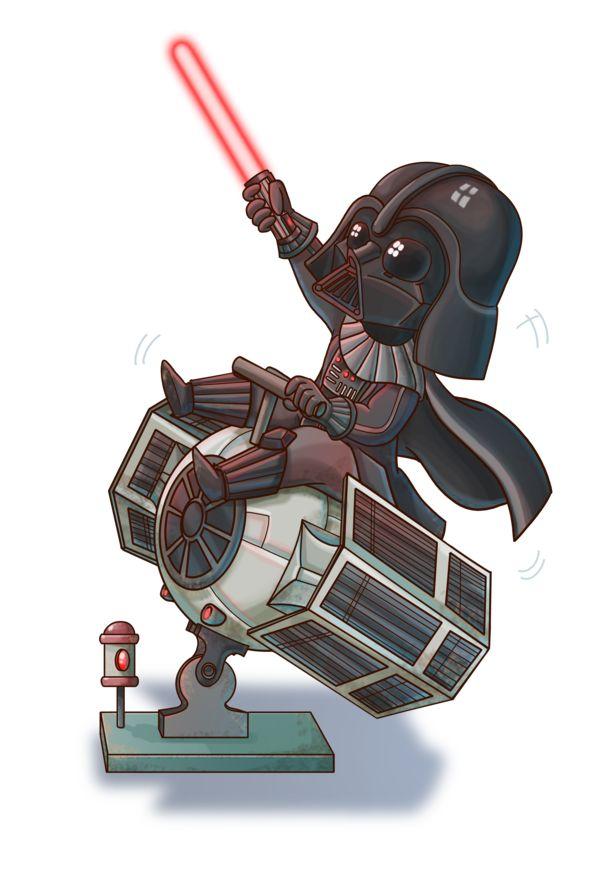 Chibi Vader by Fufunha.deviantart.com on @DeviantArt