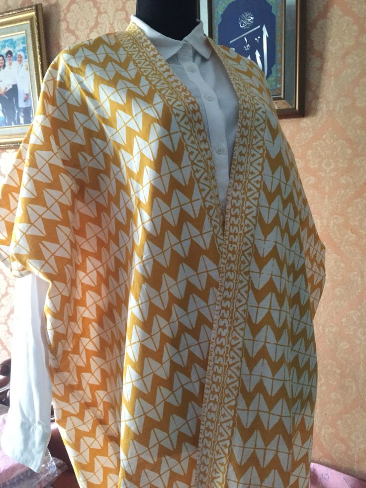 turmeric zigzag batik outer