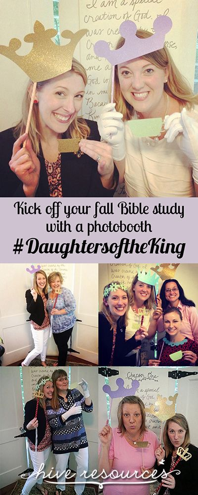 Kick off your Women's Ministry event with a #DaughtersoftheKing photo booth & tea {Hive Resources}