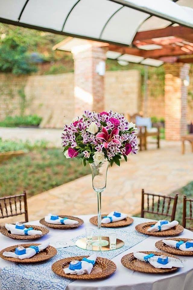 Decoração romântica e descontraída. Lindo! #casamento #noivado #ideias #inspiraçao #diy #criativo