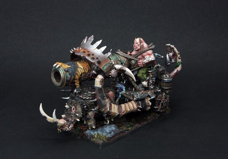 Ogre Kingdoms Ironblaster #warhammer #whfb #wh #aos #ageofsigmar #sigmar #gw #gamesworkshop #wellofeternity #miniatures #wargaming #wargames #fantasy #hobby