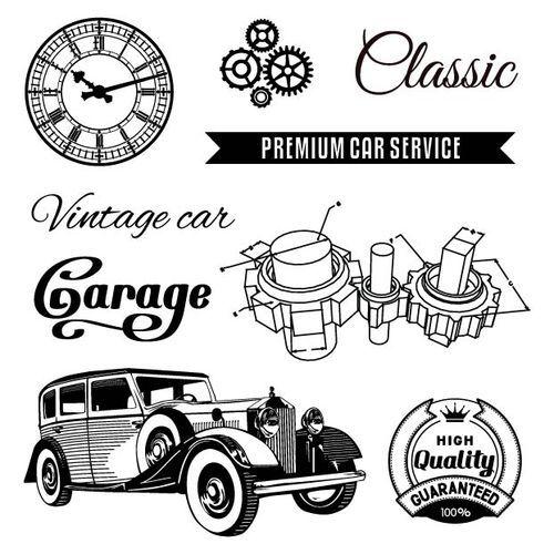 Transparentní razítka / Auto Vintage / Garage