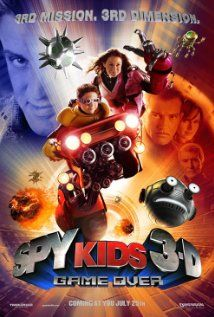 SPY KIDS: GAME OVER.  Director: Robert Rodríguez.  Year: 2003.  Cast: Daryl Sabara, Alexa Vega, Antonio Banderas, Carla Gugino