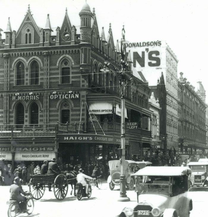 Beehive Corner, now Rundle Mall, Adelaide, South Australia, where it all began in 1915.  (scheduled via http://www.tailwindapp.com?utm_source=pinterest&utm_medium=twpin&utm_content=post680471&utm_campaign=scheduler_attribution)