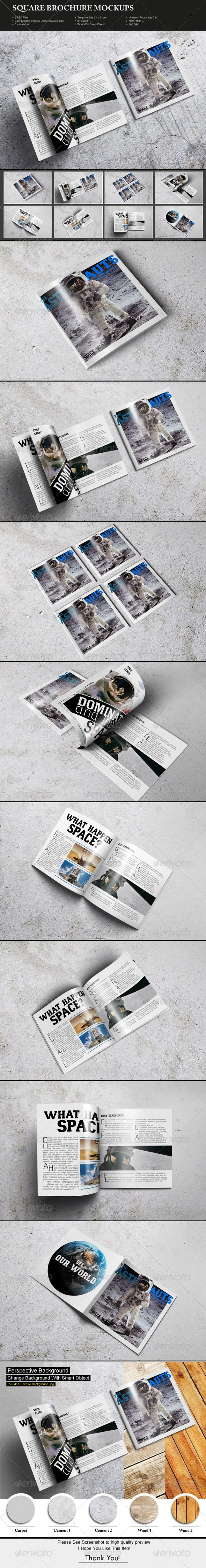 Square Brochure Mockups - Brochures Print