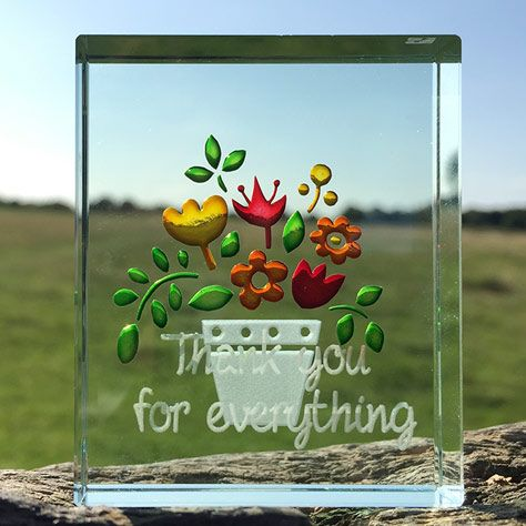 This flower pot token is a cheerful way to say thank you to a teacher you appreciate. #ThankYou #Teacher #Gift #Love #Spaceform #London