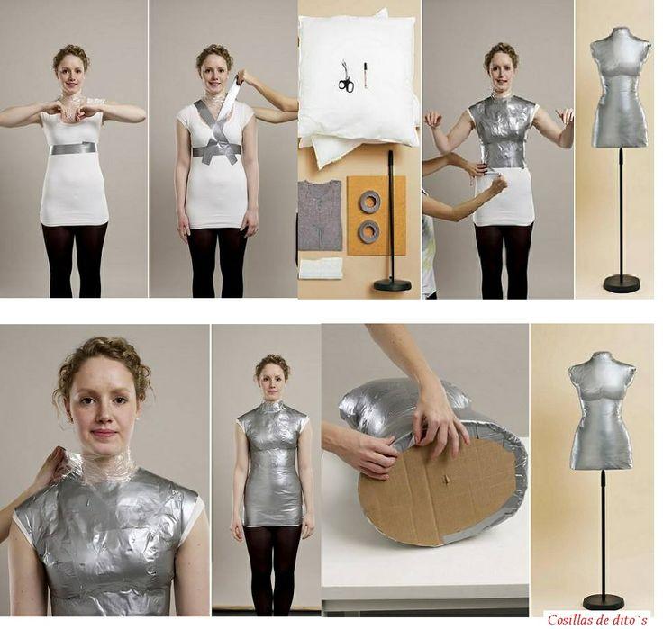 Como hacer un maniqui una camiseta que se pueda - Cinta de embalar ...