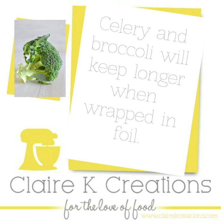 Store your celery and broccoli longer. #tip #cooking #hacks #foodblogger #clairekcreations
