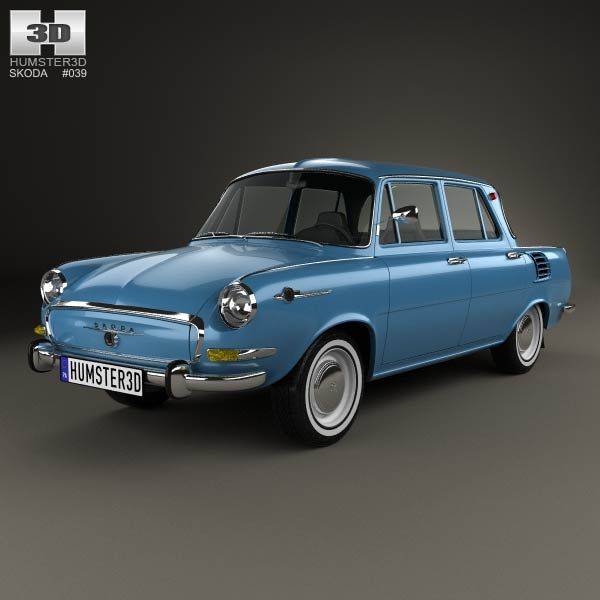 Skoda 1000 MB 1964 3d model from humster3d.com. Price: $75