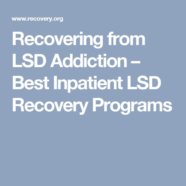 drug recovery side effects