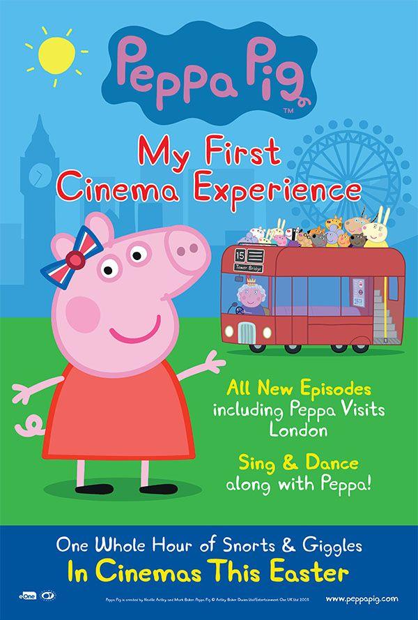 Movie of the week, Peppa Pig, first cinema visit, parenting, movies for kids,