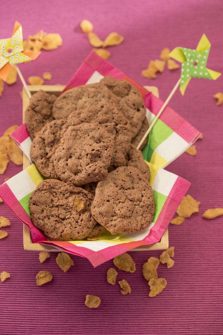 Cornflakes koekjes met chocolade