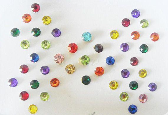 2 Pack-86 Colorful stick on fake nose stud,Bindi nose studs,Ear stud,Rhinestones stickers,Crystal dots,Clear crystal Bindi dot,Rainbow bindi by BindiClub on Etsy