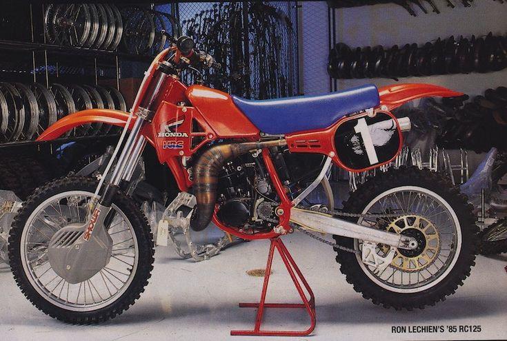 Ron Lechien Honda RC 125 cc. 1985